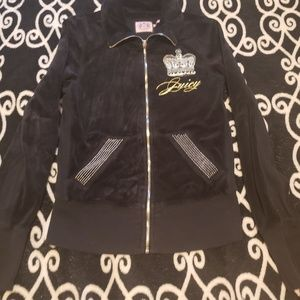 Juicy Couture velour jacket gold silver bling